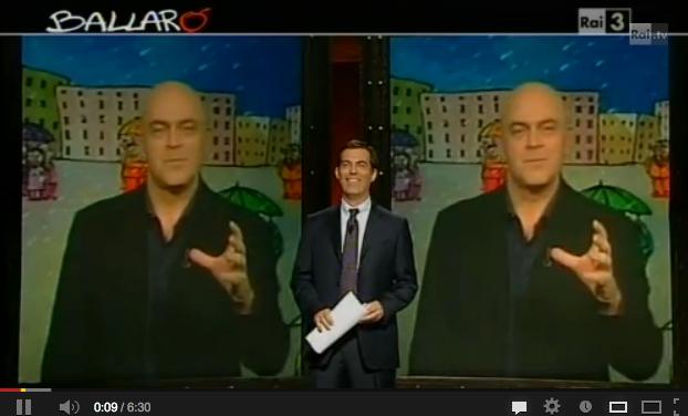 Crozza a Ballarò, scatenato su Minzolini e Cosentino, demolisce Alfano – VIDEO (22/01/2013)