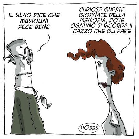 """Berlusconi: """"Mussolini fece cose buone"""" – LA VIGNETTA"""
