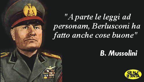 Satira: l'ironia impossibile di Mussolini su Berlusconi