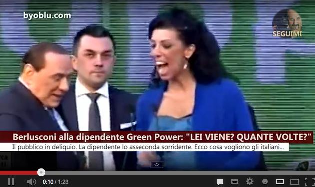 """Berlusconi alla dipendente: """"Lei viene? Quante volte?"""" – VIDEO"""