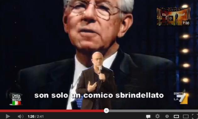 """Crozza risponde a Mario Monti e gliele canta: """"Pateticamente disinformato"""" – VIDEO"""