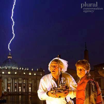 E' satira sul fulmine in Vaticano – GUARDA il fotomontaggio