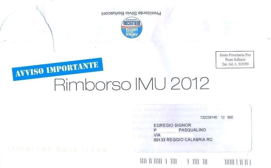 La lettera sull'Imu, l'inganno di Berlusconi