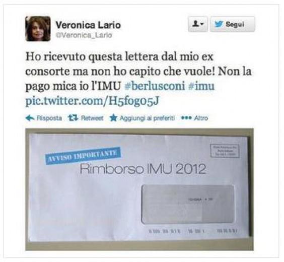Berlusconi e l'Imu, la satira con Veronica Lario