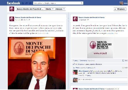 """Montepaschi, controinformazione su FB: """"giornali scrivono inesattezze"""""""