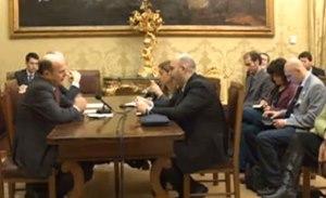 Bersani incontra Crimi e Lombardi (DIRETTA)