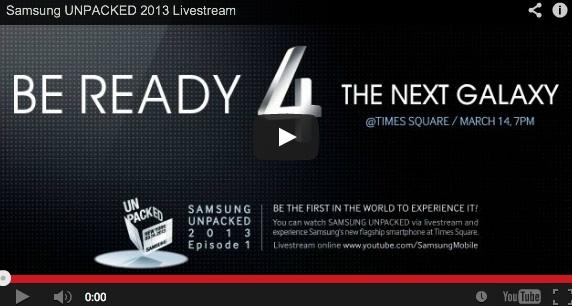 Samsung Galaxy SIV – La presentazione ufficiale