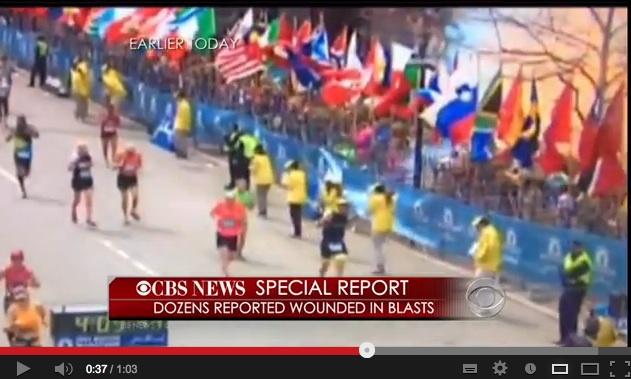 #Boston: l'attimo dell'esplosione. La bomba forse nel palazzo