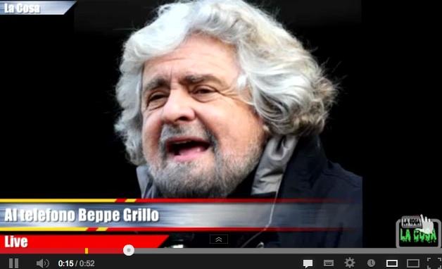Sparatoria a Palazzo Chigi – Il messaggio di Beppe Grillo – ASCOLTA