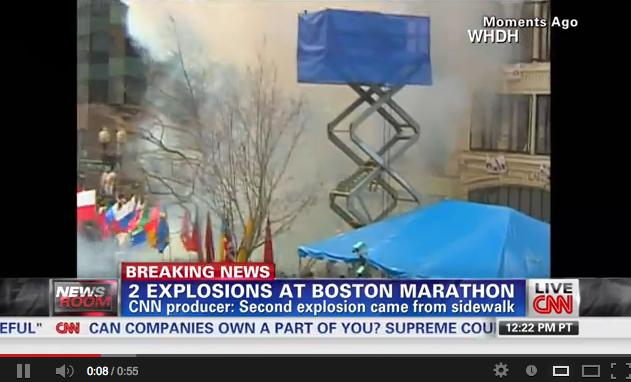 Maratona di Boston: il video dell'esplosione