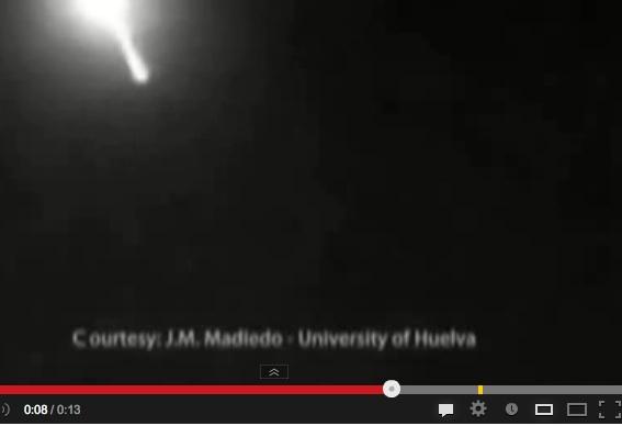 Meteorite esplode sulla Spagna – VIDEO