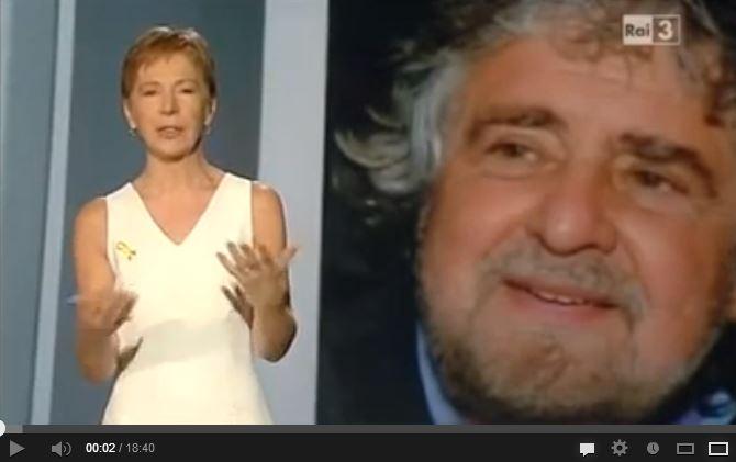 """Gabanelli: """"I proventi del blog di Grillo vanno anche al MoVimento?"""" #Report"""