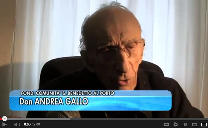 """Quando don Gallo diceva a Grillo: """"Beppe non fare lo str…"""""""