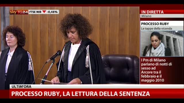 Processo Ruby, la lettura della sentenza – VIDEO
