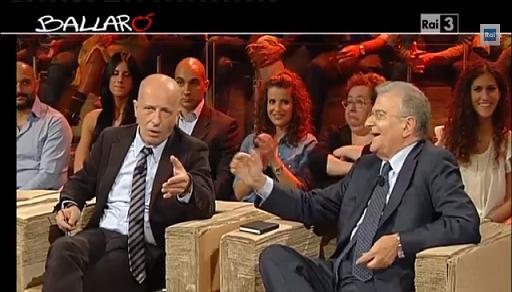 """""""Sei uno Scilipoti!"""", rissa tra Sallusti e Cicchitto a Ballarò"""