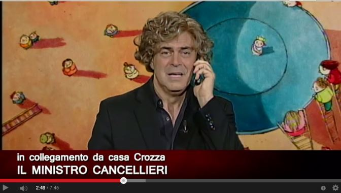 """Crozza-Cancellieri: """"Do il mio numero a tutti"""""""