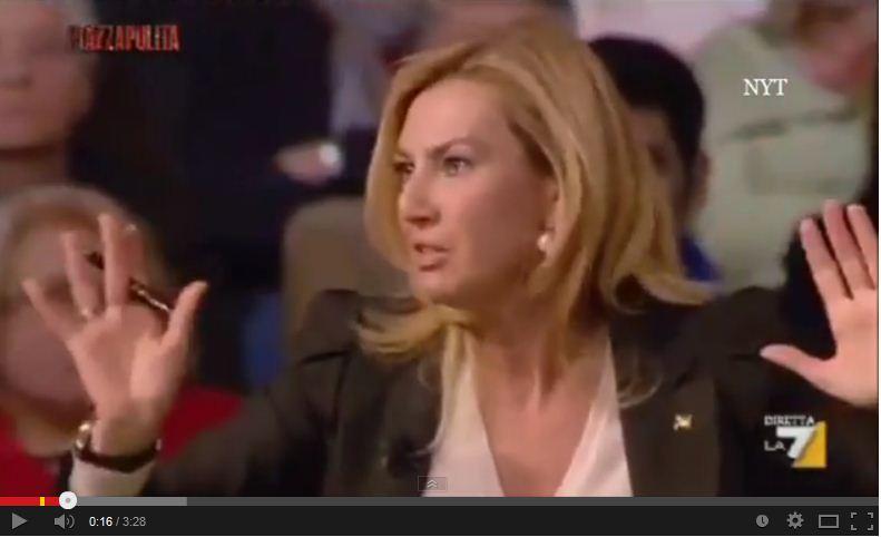 """La Biancofiore attacca: """"Alfano? Aveva la lingua appiccicata a Berlusconi!"""" – VIDEO"""