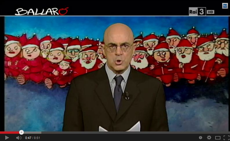 Crozza fa gli auguri di Natale, con Napolitano e Bergoglio a Ballarò – VIDEO