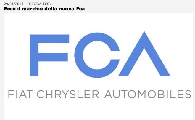 FCA – Il nuovo logo di Fiat Chriysler – FOTO