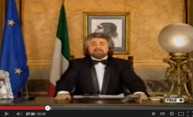 Beppe Grillo e il suo Discorso all'umanità. Era il 31 dicembre 1998