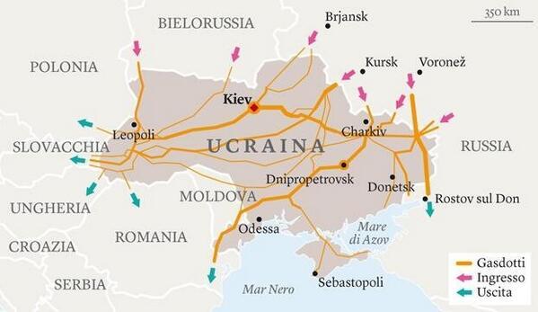 Tutti i gasdotti dell'Ucraina – INFOGRAFICA