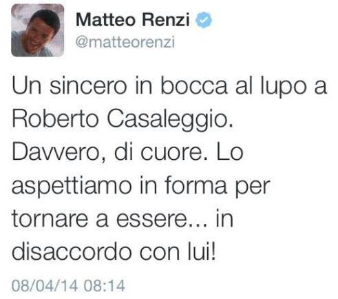 Il tweet di auguri di Renzi a Casaleggio – LEGGI