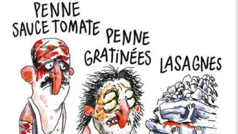 La satira di Charlie Hebdo colpisce l'Italia