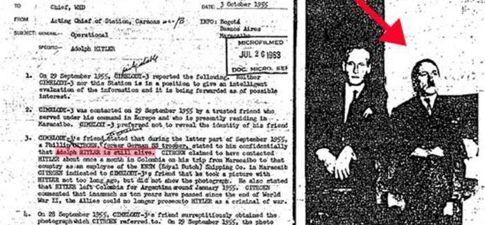 Hitler vivo dopo la guerra, le prove della teoria tra i files della CIA