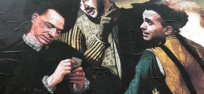"""""""I bari"""", la street art ironizza su Salvini, Di Maio e Berlusconi – LA FOTO"""