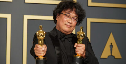 Bong-Joon-ho con gli Oscar
